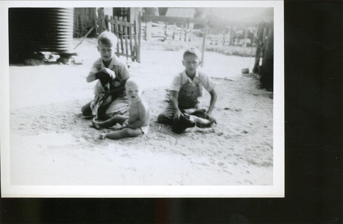 Joe & Gene Okonski & Donny Nowak  Bremond, TX 1948