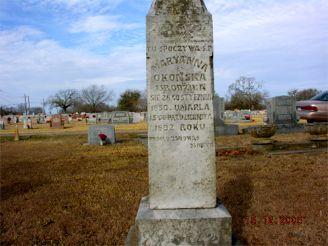 Marianna Okonski    St Mary's Cemetary  Bremond, Texas