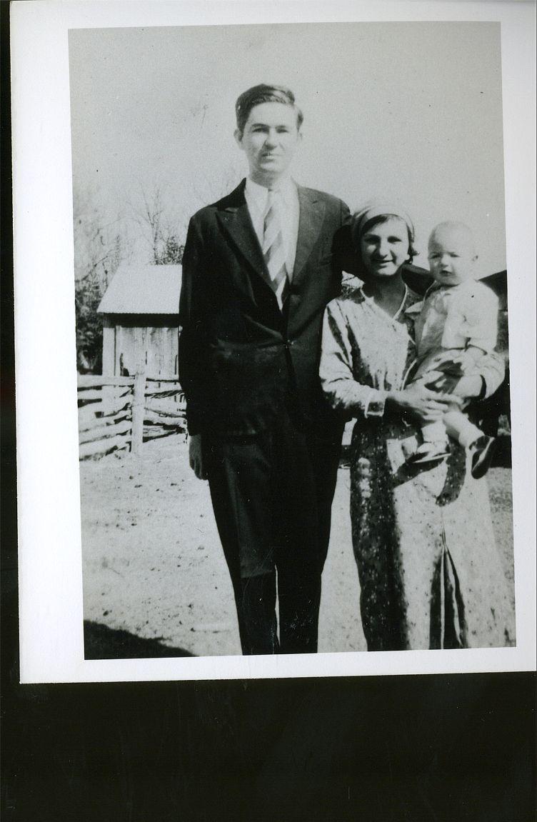 Ed & Helen Okonski with Ed, jr Aug 1933