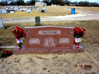 Ed & Helen Nowak Okonski St Mary's Cemetary Bremond, TX