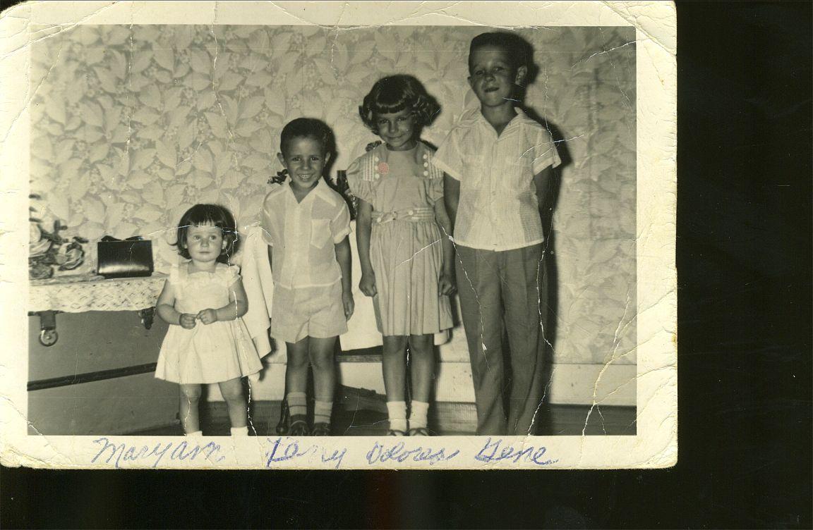 Mary Ann, Larry, Dolores, Gene Okonski     1955