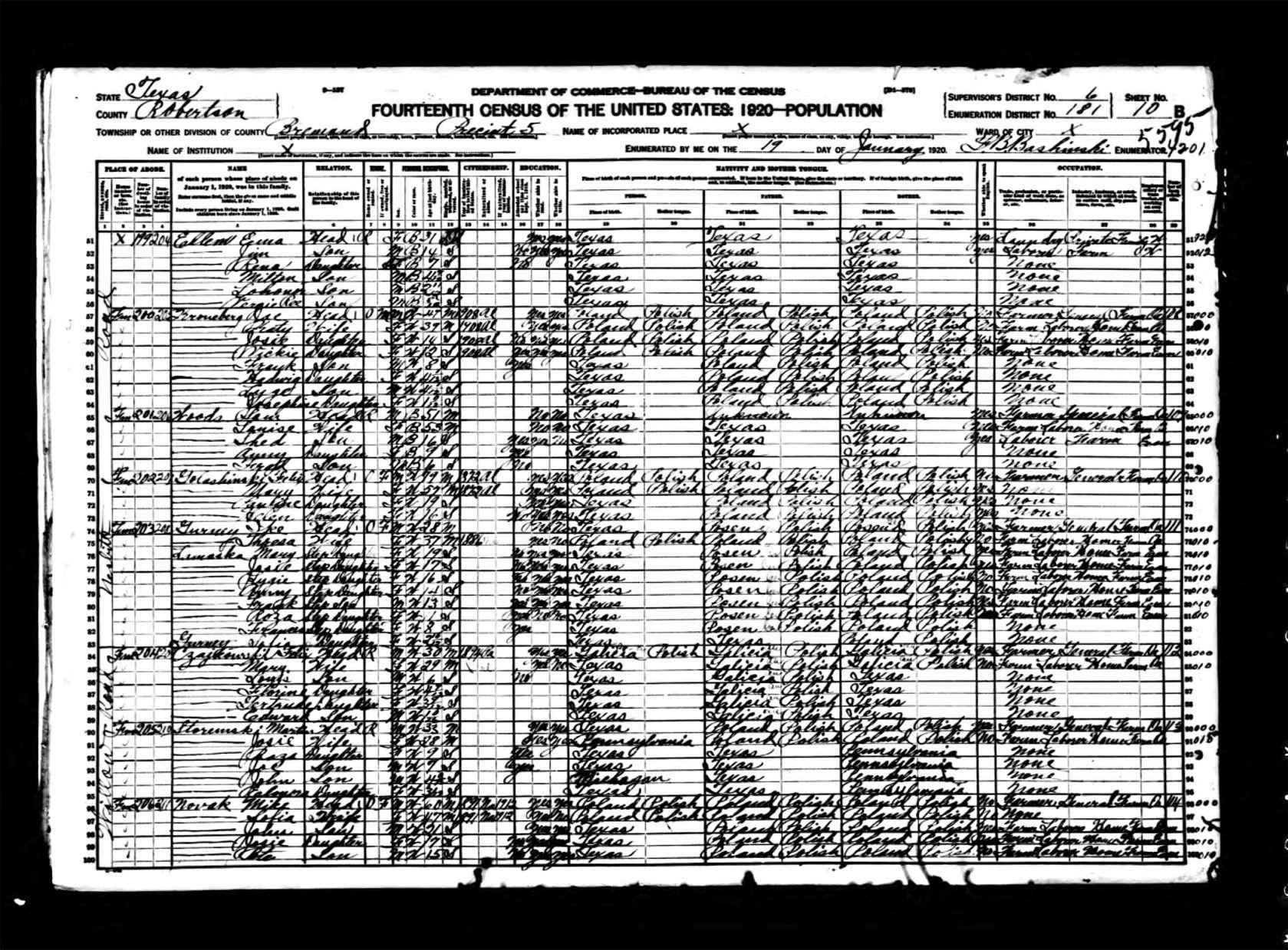 1920 Census
