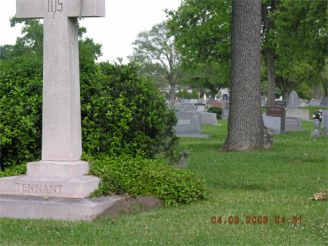 Nowak/Bielamowicz monument   Bethany 55 six rows from road and one row to left
