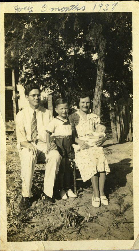 Ed, Ed, jr, Helen Joe July 1938