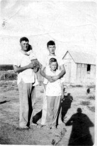 Edward, Gene @ 3 months, Ed jr, Joe 1947 Home place