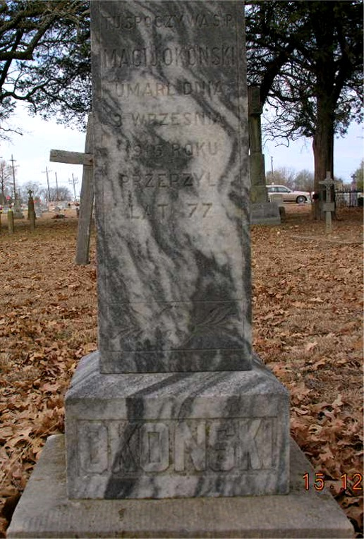 Mathias Okonski died 9/3/1916