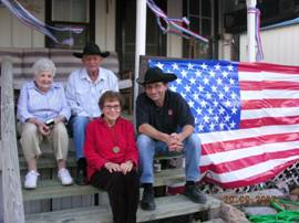 "Harry, Mary and Mark Okonski and Sadie Okonski Campbell – Oct 2007 ""Okonski Homeplace""   (same step area, Porch, columns, windows & doors since 1880's.)"