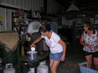 Sauerkraut Process Line Helen, Mary Ann, Ed, Larry
