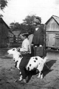 "Pauline and Marion Okonski 1921 at ""Okonski HomePlace"""