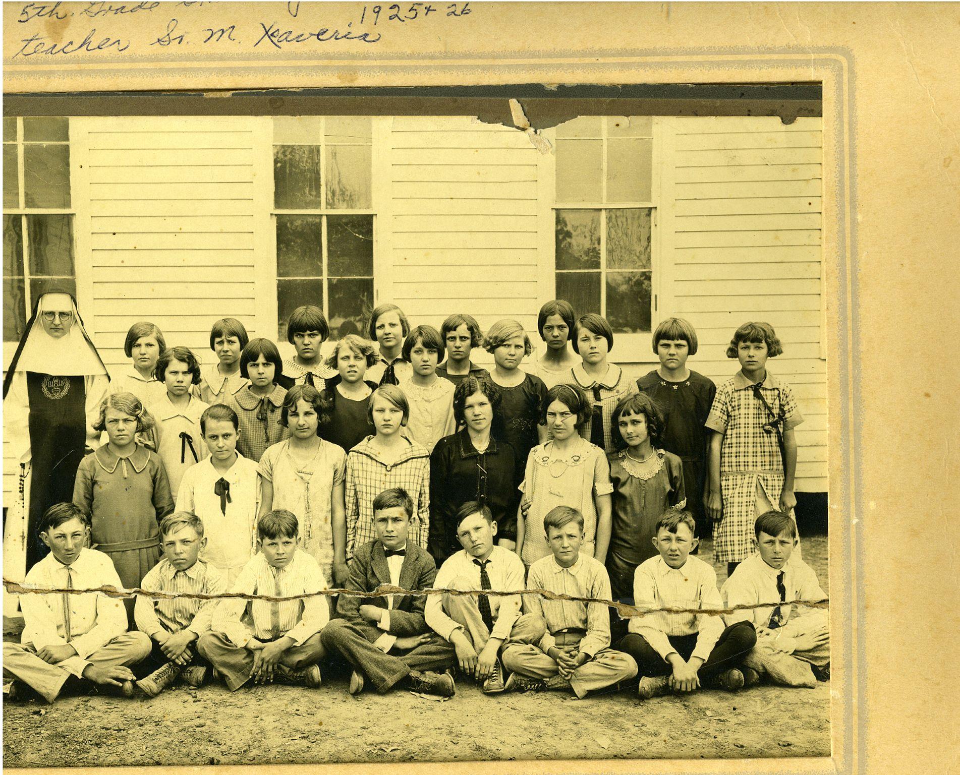 Helen Novak 1924  St Mary's School   5th grade second row from bottom - third from left