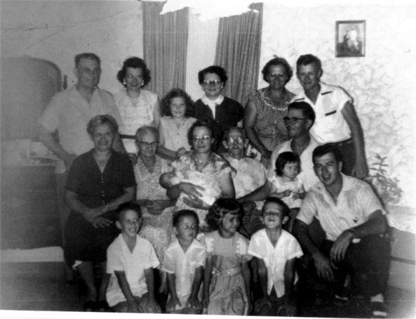 Ed & Helen Okonski Okonski Home Place Bremond, Tx   May 1955