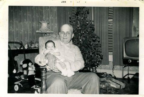 John Novak & Grandson Duane  E Meaux Jan 1957