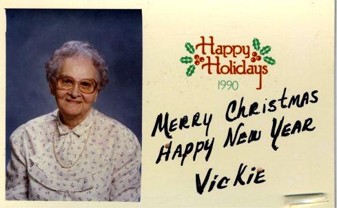 Vickie Okonski Xmas Cd To Helen Okonski 1990