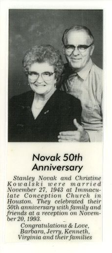 Stanley & Christine Novak 50th